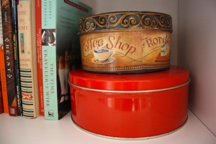 Circular vintage tins.