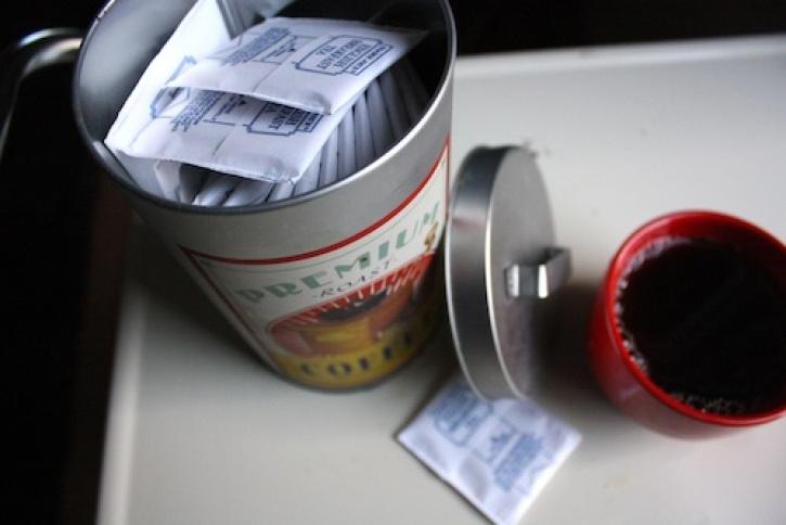 Tea tin.