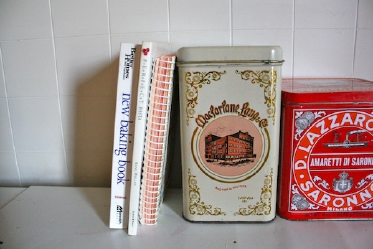 Vintage tins.