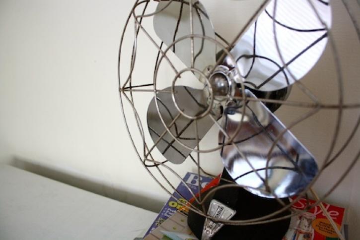 Vintage metal fan.