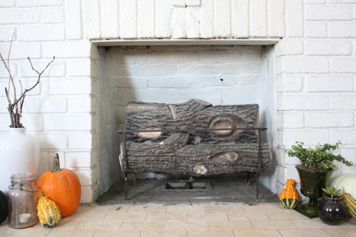 full fireplace