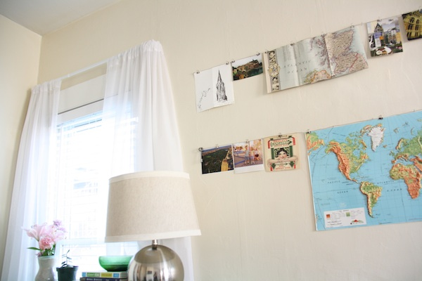 Map on wall | redleafstyle.com