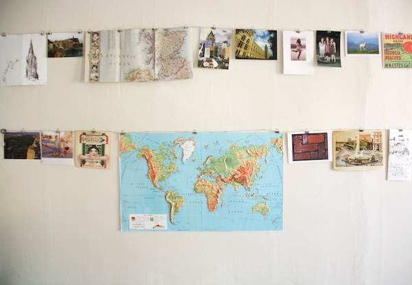 Collage on wall | redleafstyle.com