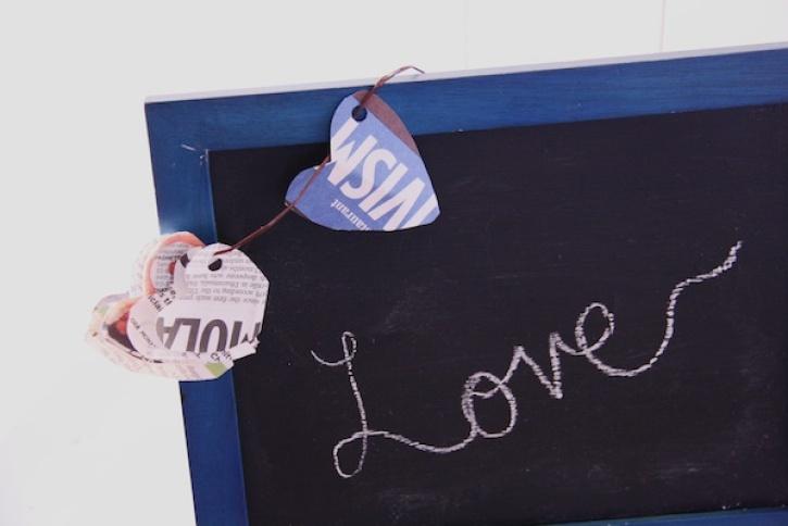 "Chalkboard with ""love"" written on it | redleafstyle.com"