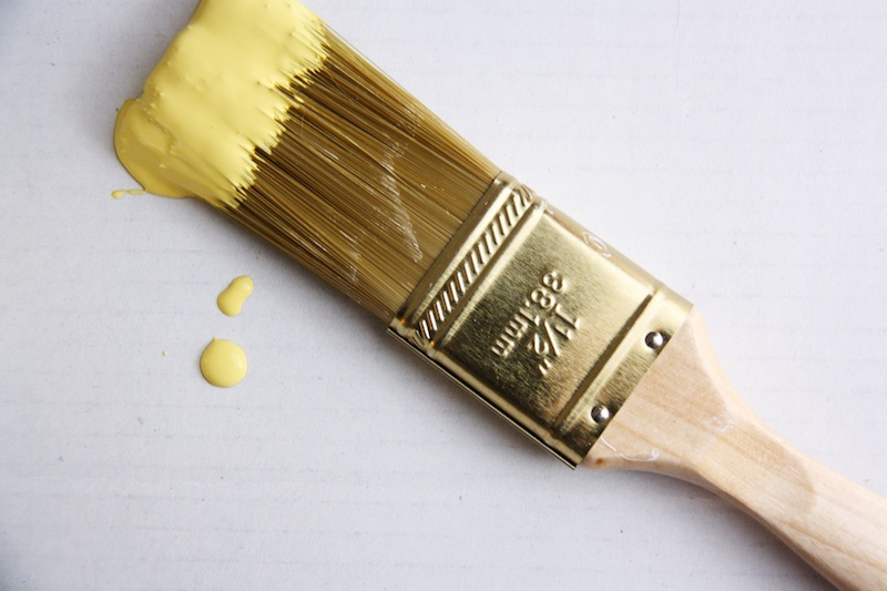 Energize your home by painting an accent piece of furniture yellow. | redleafstyle.com