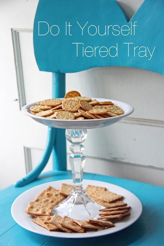 Do It Yourself Tiered Tray | redleafstyle.com