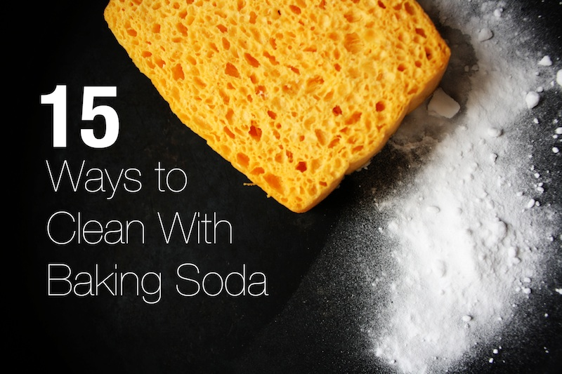 Baking soda and sponge.