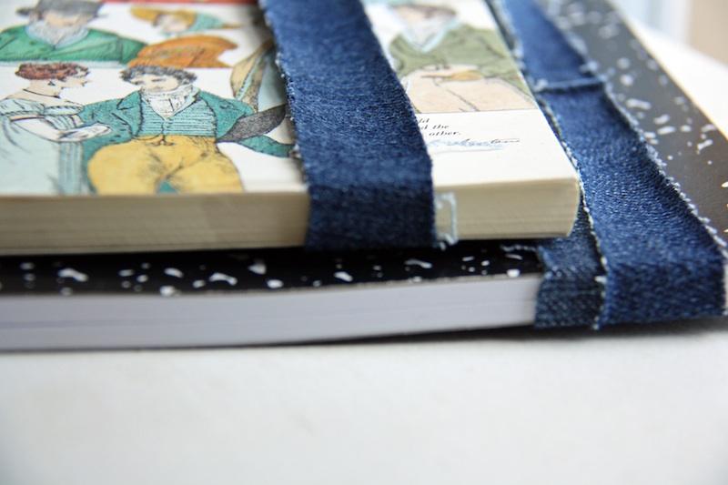 Denim Book Straps   redleafstyle.com