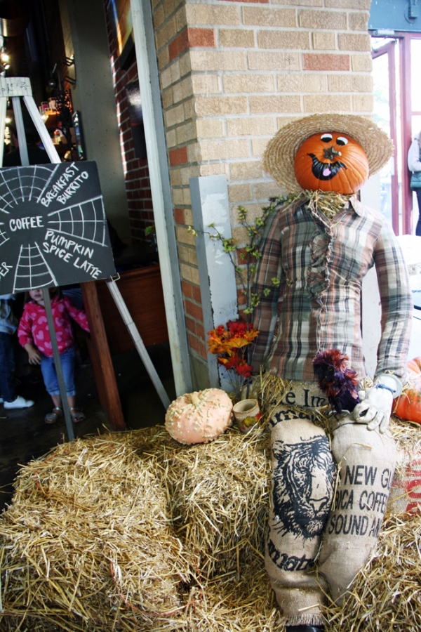 How to Make a Halloween Scarecrow | redleafstyle.com
